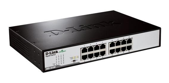 Switch Gigabit D-link Dgs-1016d 16 Portas 10/100/1000mbps