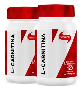 2x L-carnitina 120 Caps - Vitafor (emagrecedor)