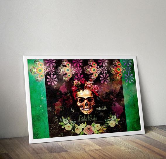 Frida Khalo Black Cuadro Imprimible