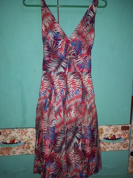 Vestido Feminino Casual Estampado Tam.42 - Verão
