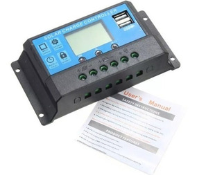 Controlador De Carga Solar 20a Lcd Usb 12-24v Pwm Automatico