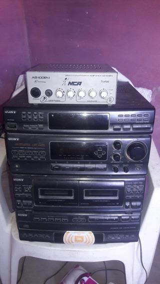 Duas Caixas De Som De Autofalante De 12.e Radiola Equalizado