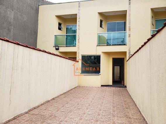 Excelente Sobrado Com 2 Dormitórios Sendo 2 Suítes À Venda Á 500 Metros Da Estação Dom Bosco, 100 M² Por R$ 440.000 - Itaquera - São Paulo/sp - So0153