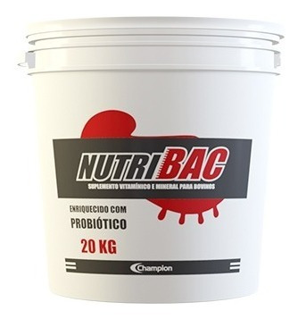 Imagem 1 de 5 de Nutribac 20 Kg Champion Saúde Animal Probiótico Para Bovinos