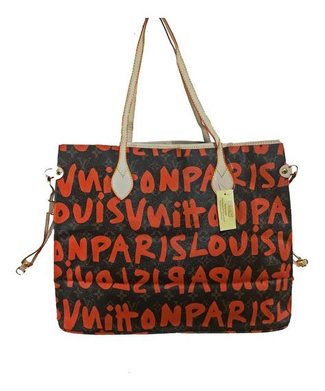 Bolsa Feminina Louis Vuitton Colorida De Couro - Promoção