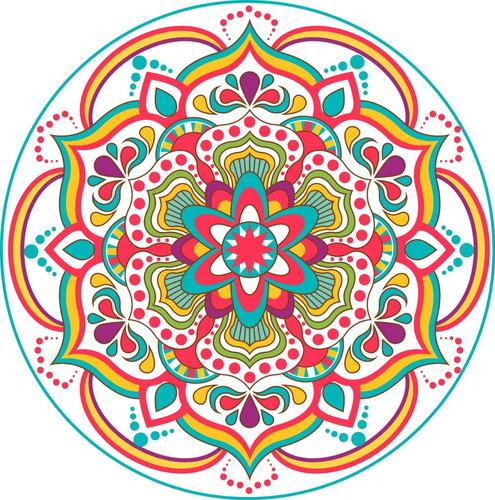 Imagen 1 de 3 de Vinilo Mandala Decorativo Mural Pared 50x50cm Modelo O