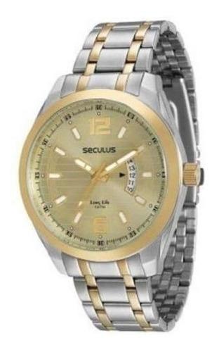 Relógio Masc. Seculus Long Life 20340gpsvba1 Leia O Anúncio