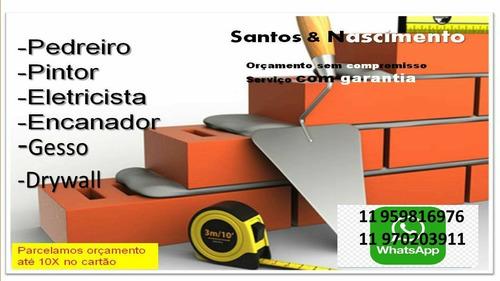 Imagem 1 de 4 de Pedreiro, Pintor, Eletricista, Encanador, Gesso,drywall.refo