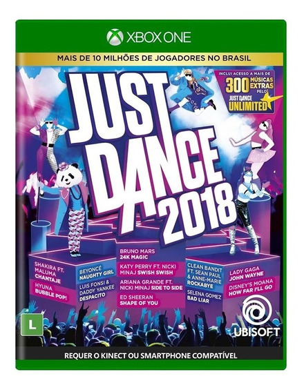 Just Dance 2018 Xbox One Mídia Física Novo Lacrado