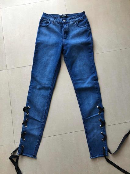 Jeans Con Lazos Abajo