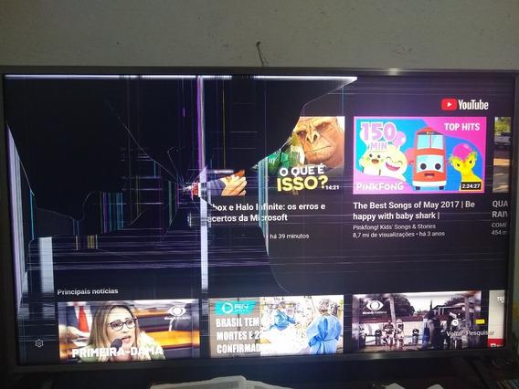 Tv LG 43 4k Smart Tela Quebrada