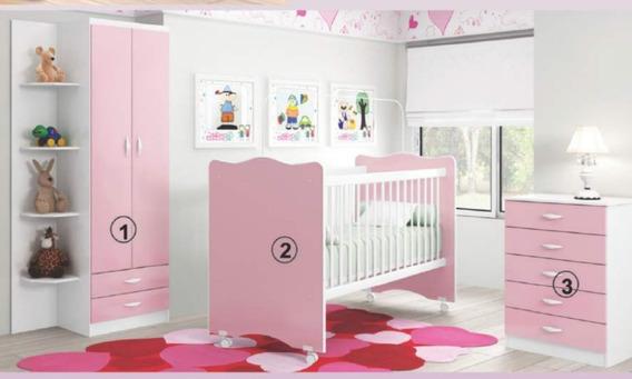 Dormitorio Infantil Cuna Bebe Cómoda Niña Niño Costa Home