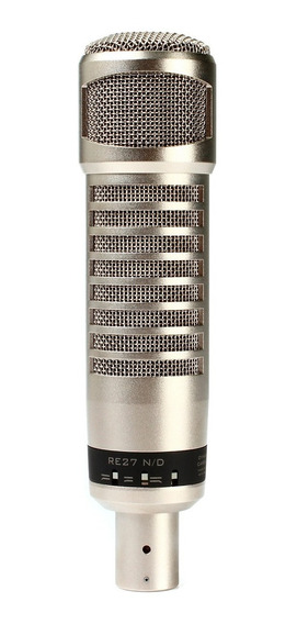 Microfone P/ Estúdio Re 27 Nd C/ Fio Electro-voice