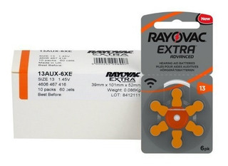 Pilas Audifono 13 Rayovac Extra Advanced Por 60 Unid