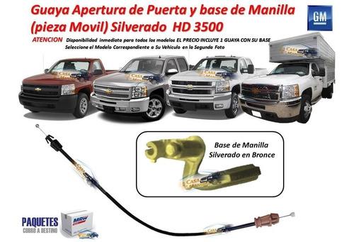 Guaya Y Base Para Puerta Silverado Hd 3500