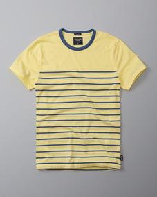 Camiseta Abercrombie Hollister Masculina Original Tam Pp Az/