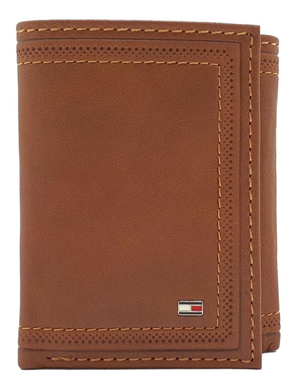 Cartera Tommy Hilfiger Trifold Camel Protección Rfid
