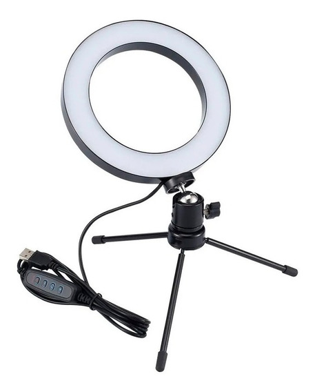 Iluminador Ring Light Anel De Luz Tripe Make Fotografia Mesa