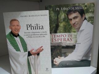 2 Livros Fábio De Melo /tempo De Esperas E Padre Mr Philia