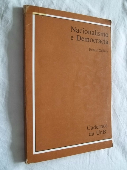 Livro - Nacionalismo E Democracia - Ernest Gellner