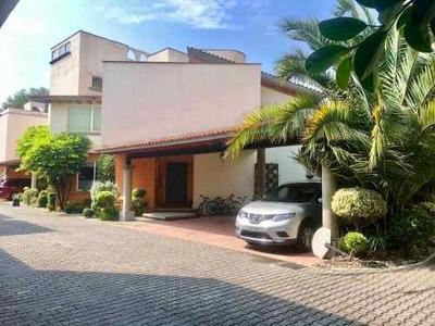 Renta Casa En Condominio Con Jardín Centro De Tlalpan