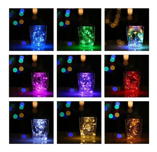 Alambre Micro 60 Led 3m Hilo Pilas Fijo Luz Hada Color Supli