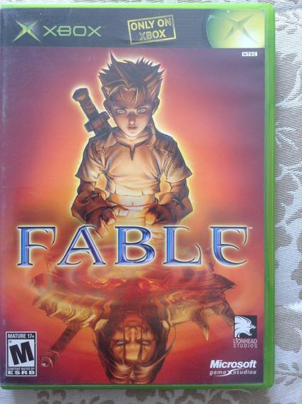 Game Rpg Fable Do Xbox Clássico -incompleto- Estojo + Manual