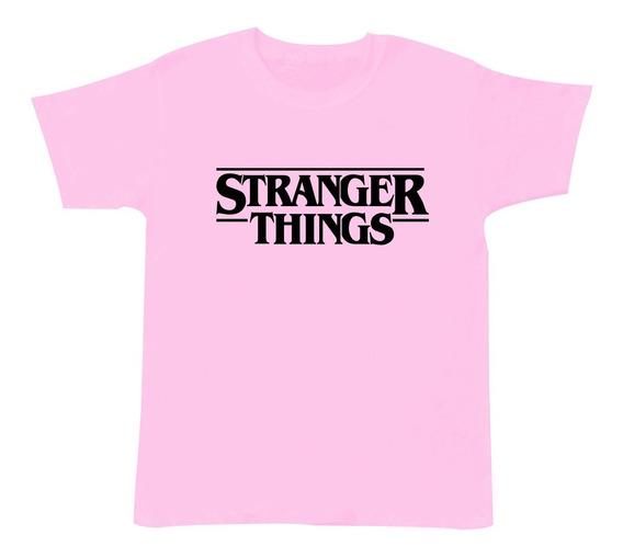 Playera Manga Corta Stranger Things Moda Niño 3 A 16 Años