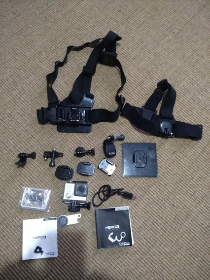 Filmadora E Câmera Gopro Hero 3 White + 14 Acessórios