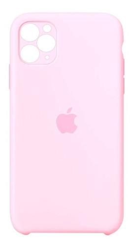 Carcasa Silicona Cubre Cámara iPhone 11 Pro Rosado