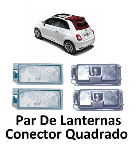 Imagem 1 de 6 de Par Lanterna Placa Led Fiat 500 Con Quad Ano 12/..  6036/37