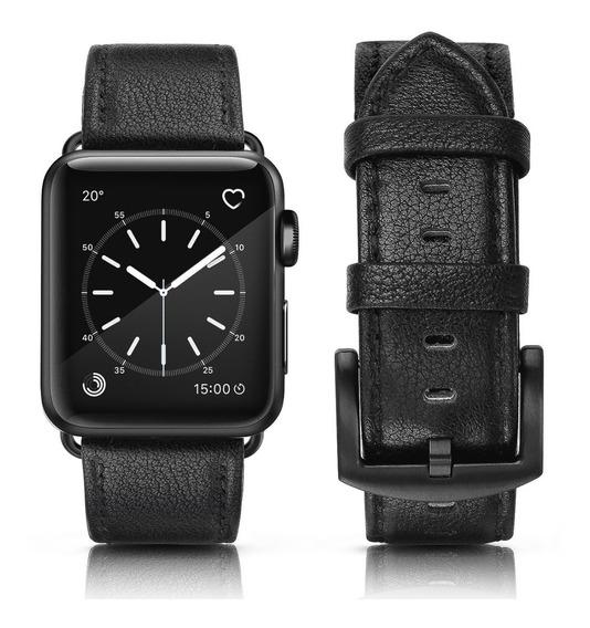 Pulseira Apple Watch Couro Legítimo Rústica 42mm + Case