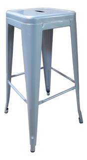 Banqueta Tolix Metal Refozada Plateada X2 C/ Envio