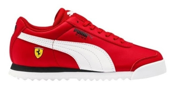 Tenis Puma Roma Scuderia Ferrari Jr Rojo Oferta Dama Origina