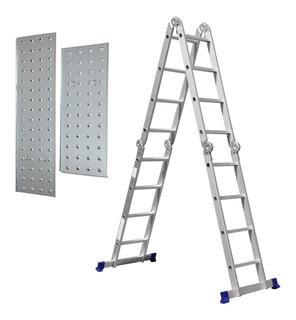 Escada 16 Degraus Multifuncional 4x4 Com Plataforma 5134 Mor