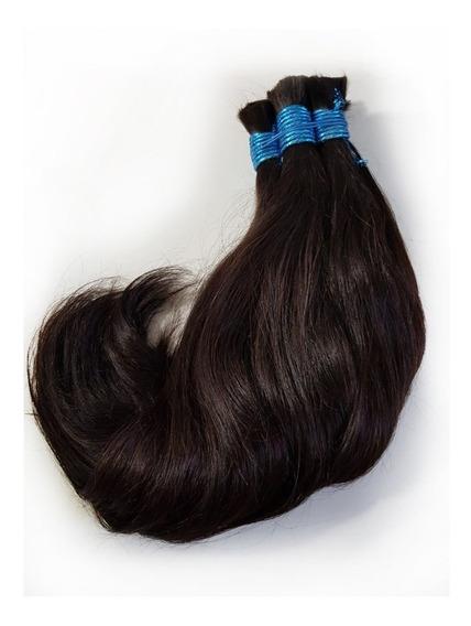 Cabelo Humano Natural Castanho 50/55cm 50g(cabelo Virgem)
