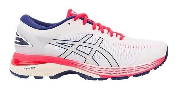 Zapatillas Asics Gel Kayano 25 Blanco/rojo Mujer Running