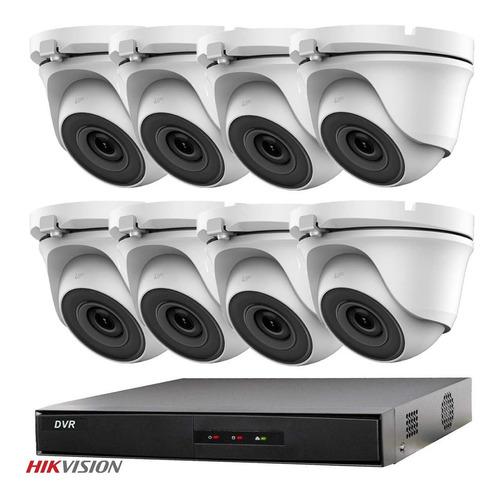Imagen 1 de 9 de Kit 8 Camaras Seguridad Hikvision Dvr Full Hd 1080p