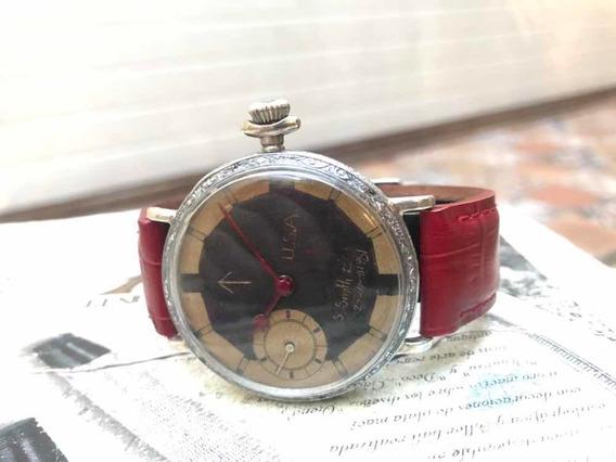 Reloj De Transicion New York Militar Cuerda Antiguo
