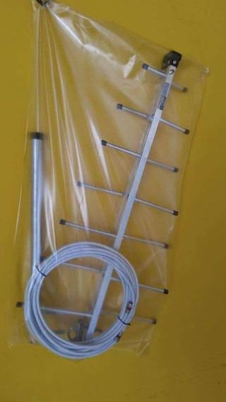 Antenas Digital C/ Cabo, Conectores, Suporte E Abracadeira.