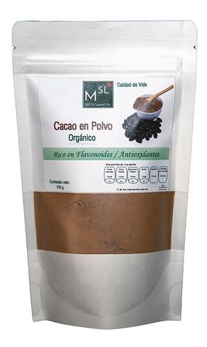 Imagen 1 de 4 de Cacao En Polvo 100% -bolsa Resellable 100 G -origen: México