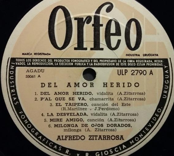 Disco Vinilo Alfredo Zitarrosa Del Amor Herido Uruguay