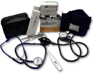 Kit Enfermeria Set Profesional Tensiometro Oximetro Coronet