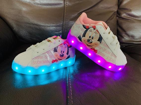 adidas Super Star Led De Minnie Mouse Para Bebes