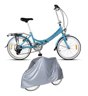 Bicicleta Plegable Aurora Classic Retro Rodado 20 + Funda