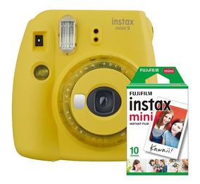 Câmera Instax Mini 9 + Filme 10 Poses Novas Cores