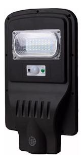 Luminária Pública Poste Energia Solar 30w Sensor E Controle