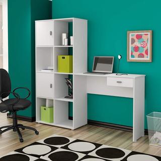 Mesa Para Computador 1 Gaveta Com Estante Nicho Hb