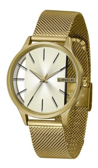 Relógio Lince Dourado Feminino Analógico Lrg624l C1kx