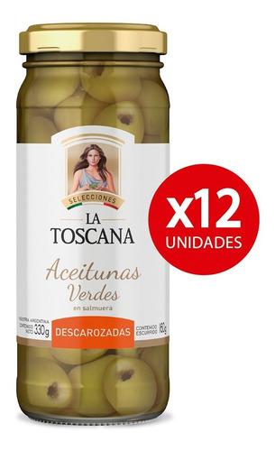 Aceitunas Verdes Descarozadas La Toscana. Pack X 12